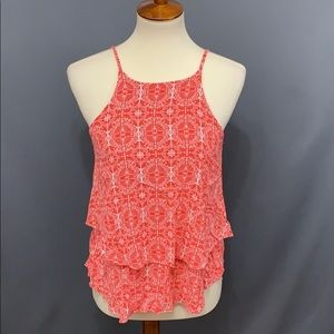 Emmelee Layered Coral | White Halter Top